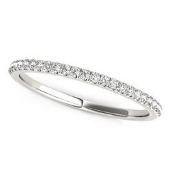 14K White Gold Diamond Wedding Band in Pave Setting (1/8 ct. tw.)