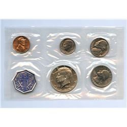 1965 US Mint Uncirculated 5 Coin Set w/envelope