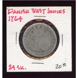 West Indies Danish 1764 24 Skilling