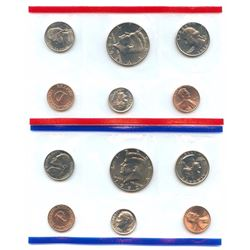 1992-D&P US Mint Uncirculated 10 Coin Set