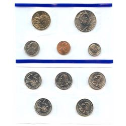 2001-P US Mint Uncirculated 10 Coin Set, 5 states