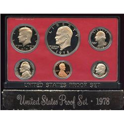 1978 US Mint 6 Coin Proof Set with box