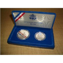 1986 US Mint Liberty Proof Coin Set with box