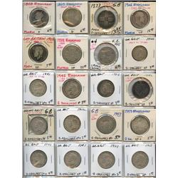 Lot of 20 Great Britain Silver Florin, 1858-1951