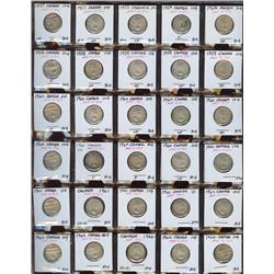 Lot of 30 Canada Silver Dimes, 1957-1962, all 80%