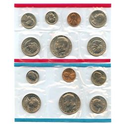 1980-D&P US Mint Uncirculated 13 Coin Set