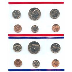 1990-D&P US Mint Uncirculated 10 Coin Set