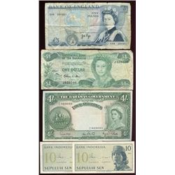 Lot of 16 Foreign Currency Notes