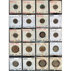 Lot of 20 India 1/12, 1/4, 1-2 Anna, 1-1/2 Pice