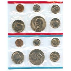 1977-D&P US Mint Uncirculated 12 Coin Set