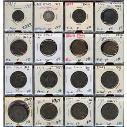 Lot of 16 Italy Soldo 5-10- Centesimi Coins