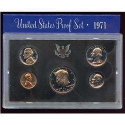 1971 US Mint Proof 5 Coin Set with box