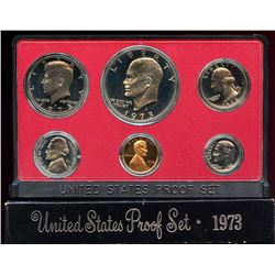 1973 US Mint Proof 6 Coin Set with box