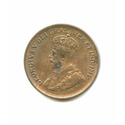 Canadian Bronze 1933 Cent, MS63 condition