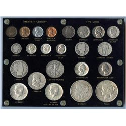 20th Century Type Coin Set, 23 coins