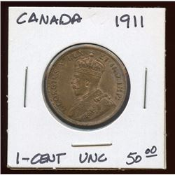 1911 Canada Bronze Large Cent, Uncirculated
