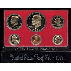 1977 US Mint 6 Coin Proof Set with box