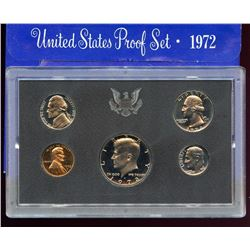 1972 US Mint Proof 5 Coin Set with box
