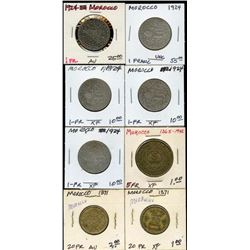 Lot of 8 Monaco 1-5-20 High Grade Franc Coins