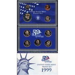 1999 US Mint Proof Set with 5 State Quarters