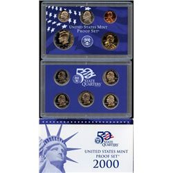 2000 US Mint Proof Set with 5 State Quarters