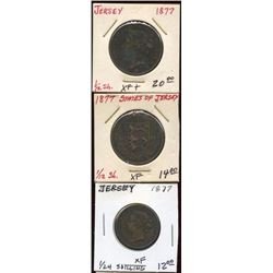 Lot of 3 States of Jersey 1/12 & 1/24th Shilling