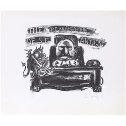Lee Lorenz, The Temptation of St. Anthony, Lithograph