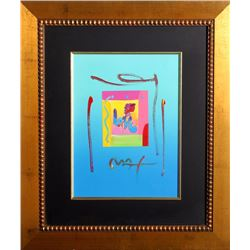 Peter Max, Love (Deluxe) v. III, Acrylic and Collage