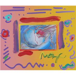 Peter Max, I Love the World, Mixed Media Painting