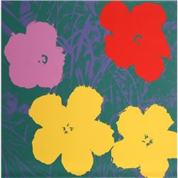 Andy Warhol, Flowers 6, Serigraph, Sunday B. Morning