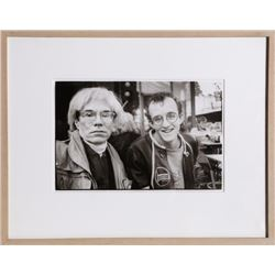 Christopher Makos, Andy Warhol and Keith Haring, Photograph