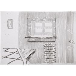 Richard Artschwager, Window, Notes on a Room, Etching