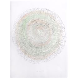 Alan Sonfist, Tree Trunk Series - Green II, Lithograph