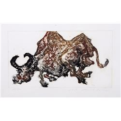 Shaih Lifa, Bull, Aquatint Etching