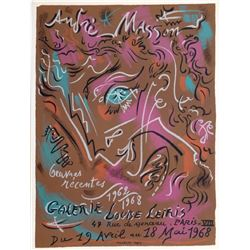 Andre Masson, Galerie Louis Leiris (Gravures), Lithograph Poster