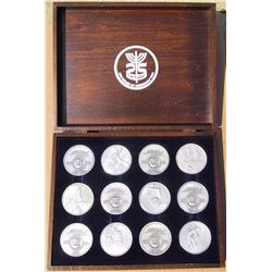 Salvador Dali, Homage to Israel, Set of 12 Silver Medals