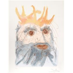 Salvador Dali, King Saul from our Historical Heritage, Etching and Pochoir