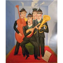 Benjamin Levy, Quartet, Oil Painting