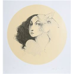 Ramon Santiago, Sheep Portrait 52, Lithograph