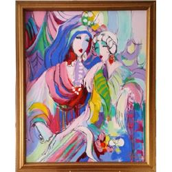 Isaac Maimon, Portrait of Two Women, Oil Painting