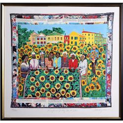 Faith Ringgold, The Sunflower's Quilting Bee at Arles, Silkscreen