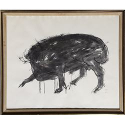 Leonard Baskin, Boar, Drawings from the Iliad, Lithograph