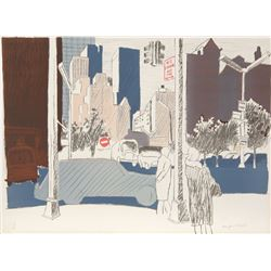 Fairfield Porter, untitled (NYC), Lithograph