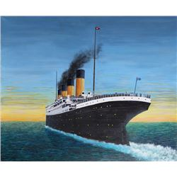 Roy Ahlgren, The Great Ship (Titanic), Acrylic Painting