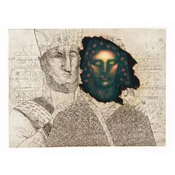 Saint Clair Cemin, Priestess (Green), Aquatint Etching