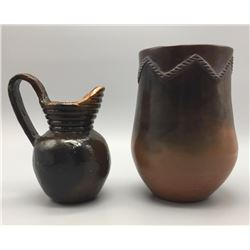 Pair Of Navajo Pots - Pitcher & Olla