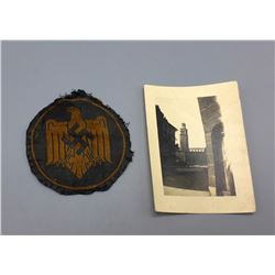 WWII German DRL Bevo Insignia and Photo