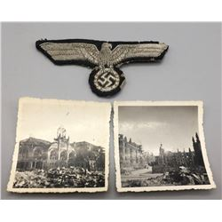 WWII German Army Officer's Patch and Photos