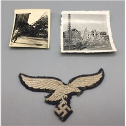 WWII German Luftwaffe Patch and Photos