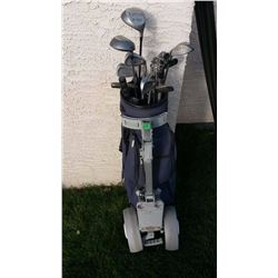 Golf Clubs, Precision II With Cart